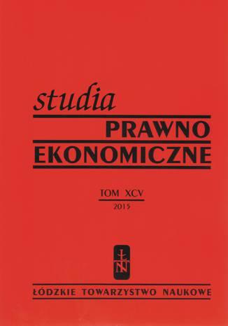 Okładka książki/ebooka Studia Prawno-Ekonomiczne tom 95