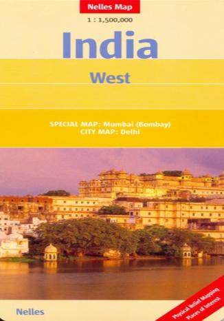 Okładka książki Indie Zachodnie. Mapa Nelles 1:1 500 000