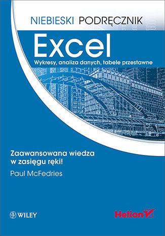 Okładka książki/ebooka Excel. Wykresy, analiza danych, tabele przestawne. Niebieski podręcznik