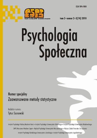 Okładka książki/ebooka Psychologia Społeczna nr 2-3(14)/2010