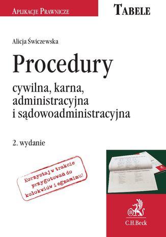 Okładka książki/ebooka Procedury: cywilna, karna, administracyjna i sądowoadministracyjna