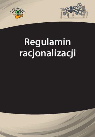 Okładka książki/ebooka Regulamin racjonalizacji