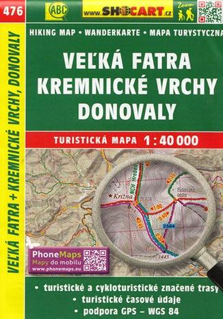 Okładka książki/ebooka Veľká Fatra, Kremnické vrchy, Donovaly, 1:40 000