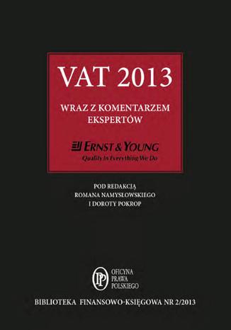 Okładka książki/ebooka VAT 2013 wraz z komentarzem ekspertów Ernst & Young