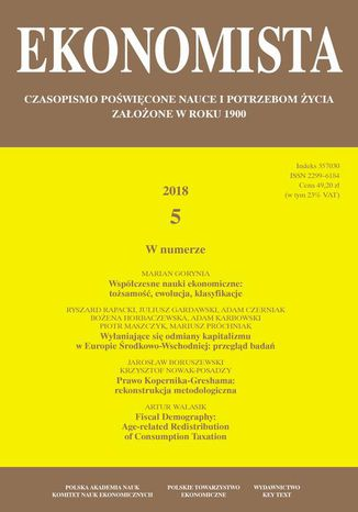Okładka książki/ebooka Ekonomista 2018 nr 5