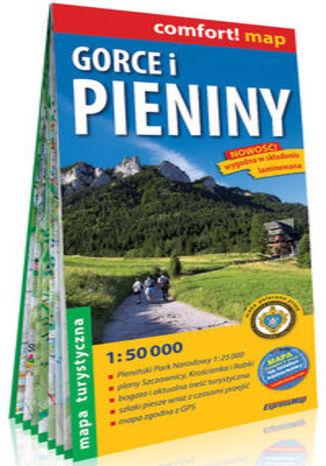 Okładka książki/ebooka Gorce i Pieniny laminowana mapa turystyczna 1:50 000