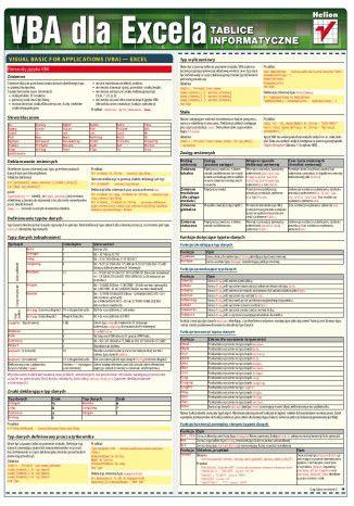 Okładka książki Tablice informatyczne. VBA dla Excela