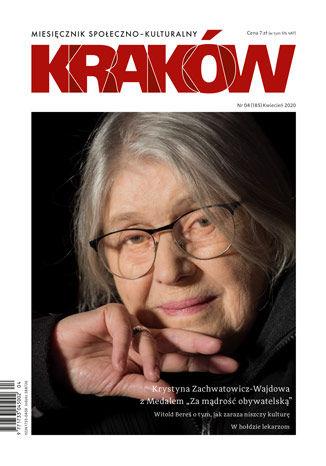Okładka książki/ebooka Miesięcznik Kraków, kwiecień 2020
