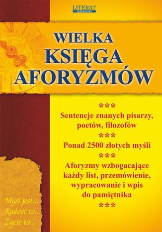 Okładka książki/ebooka Wielka księga aforyzmów