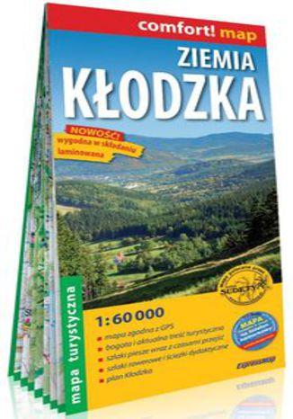 Okładka książki/ebooka Ziemia Kłodzka laminowana mapa turystyczna 1:60 000