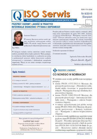 Okładka książki/ebooka ISO Serwis. Wszystko o normach i systemach zarządzania jakością. Nr 7/2015