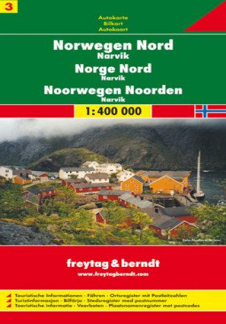 Okładka książki/ebooka Norwegia cz. 3 północna Narvik. Mapa samochodowa