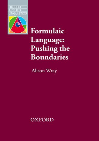 Okładka książki Formulaic Language - Oxford Applied Linguistics