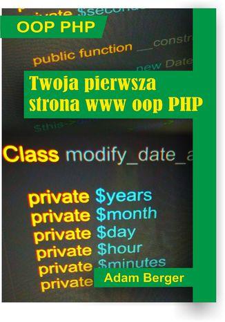 Okładka książki/ebooka Twoja pierwsza strona www oop php