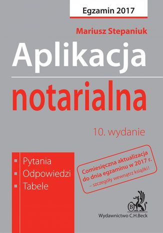Okładka książki/ebooka Aplikacja notarialna. Pytania odpowiedzi tabele