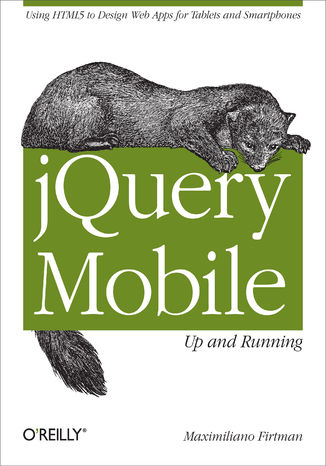 Okładka książki/ebooka jQuery Mobile: Up and Running. Up and Running