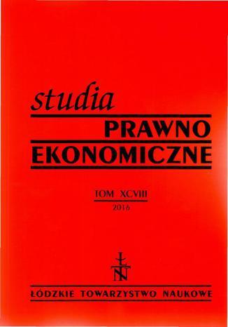 Okładka książki/ebooka Studia Prawno-Ekonomiczne t. 98