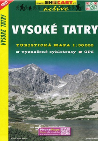 Okładka książki Vysoké Tatry,1:50 000