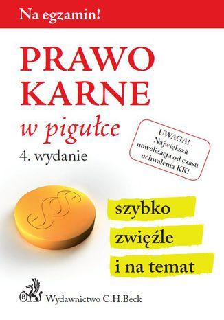 Okładka książki/ebooka Prawo karne w pigułce. Wydanie 4