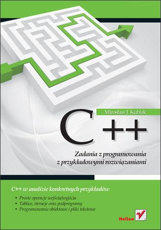 Okładka książki/ebooka C++. Zadania z programowania z przykładowymi rozwiązaniami
