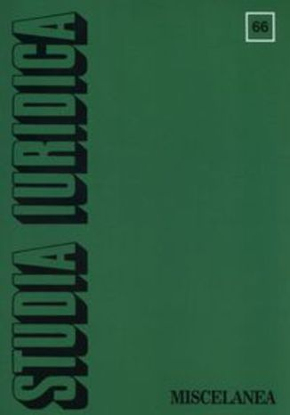 Okładka książki Studia Iuridica nr 66