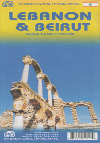 Okładka książki/ebooka Liban i Bejrut. Mapa ITMB 1:190 000/ / 1:8 000