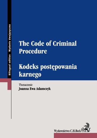Okładka książki/ebooka Kodeks postępowania karnego. The Code of Criminal Procedure