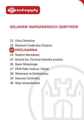 Okładka książki/ebooka Królikarnia. Szlakiem warszawskich zabytków
