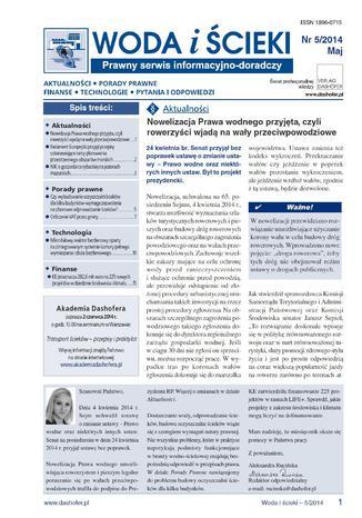 Okładka książki/ebooka Woda i ścieki online Prawny serwis informacyjno-doradczy