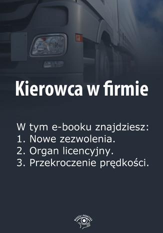 Okładka książki/ebooka Kierowca w firmie, wydanie maj 2014 r