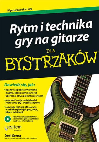 Okładka książki Rytm i technika gry na gitarze dla bystrzaków