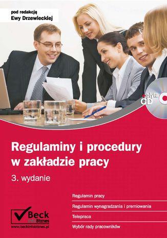 Okładka książki/ebooka Regulaminy i procedury w zakładzie pracy