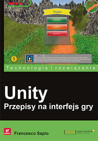 Okładka książki/ebooka Unity. Przepisy na interfejs gry