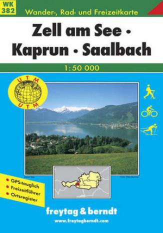 Okładka książki/ebooka Zell am See, Kaprun, Saalbach. Mapa turystyczna