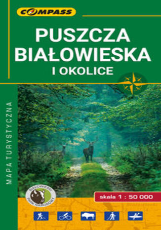 Okładka książki/ebooka Puszcza Białowieska mapa laminowana