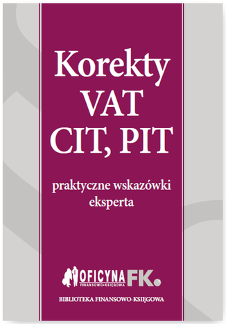 Okładka książki/ebooka Korekty VAT, CIT, PIT