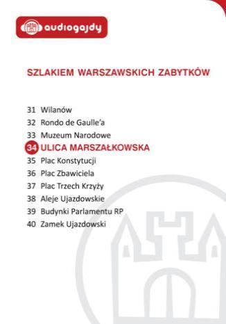 Okładka książki/ebooka Ulica Marszałkowska. Szlakiem warszawskich zabytków