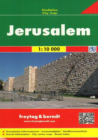 Okładka książki/ebooka Jerozolima, 1:10 000