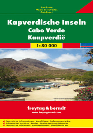Okładka książki/ebooka Wyspy Zielonego Przylądka mapa 1:80 000 Freytag & Berndt