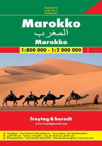 Okładka książki/ebooka Maroko. Mapa Freytag & Berndt 1:800 000 / 1:2 000 000