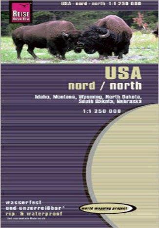 Okładka książki/ebooka USA północ. Mapa Reise Know-How / 1:1 250 000