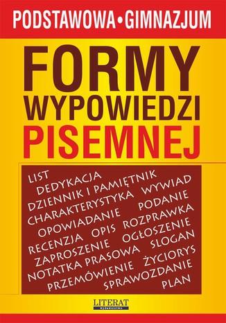 Okładka książki/ebooka Formy wypowiedzi pisemnej