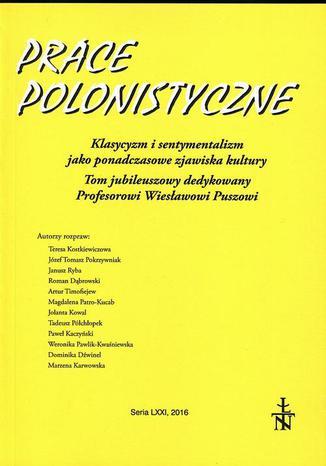 Okładka książki/ebooka Prace Polonistyczne t. 71/2016