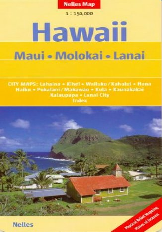 Okładka książki/ebooka Hawaje. Maui, Molokai, Lanai. Mapa