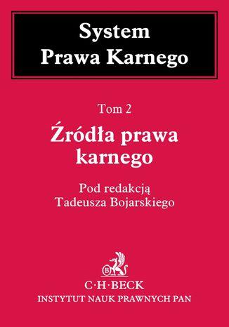 Okładka książki/ebooka Źródła prawa karnego. Tom 2