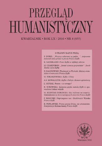 Okładka książki/ebooka Przegląd Humanistyczny 2016/4 (455)