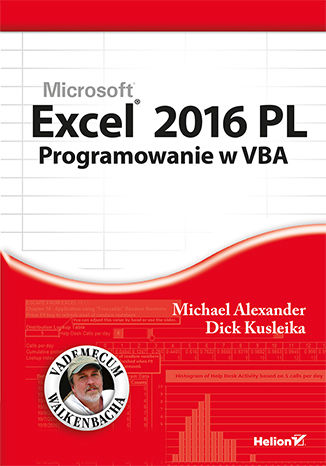 Okładka książki/ebooka Excel 2016 PL. Programowanie w VBA. Vademecum Walkenbacha