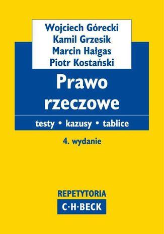 Okładka książki/ebooka Prawo rzeczowe Testy. Kazusy. Tablice