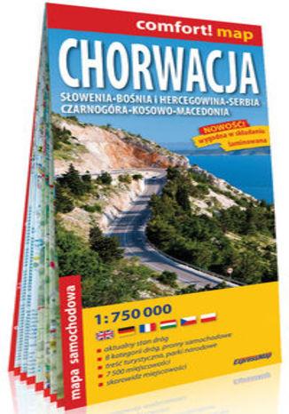 Okładka książki/ebooka Chorwacja, Słowenia, Bośnia i Hercegowina, Serbia, Czarnogóra, Kosowo, Macedonia; laminowana mapa samochodowa
