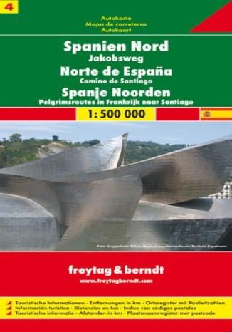 Okładka książki/ebooka Hiszpania (cz.4). Droga św Jakuba. Mapa Freytag & Berndt 1:500 000